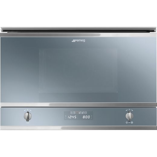Smeg Classic MP422S Built In Microwave - Silver Glass