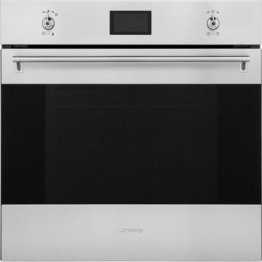 Smeg Classic SF6390XE Built In Electric Single Oven - Stainless Steel - A+ Rated