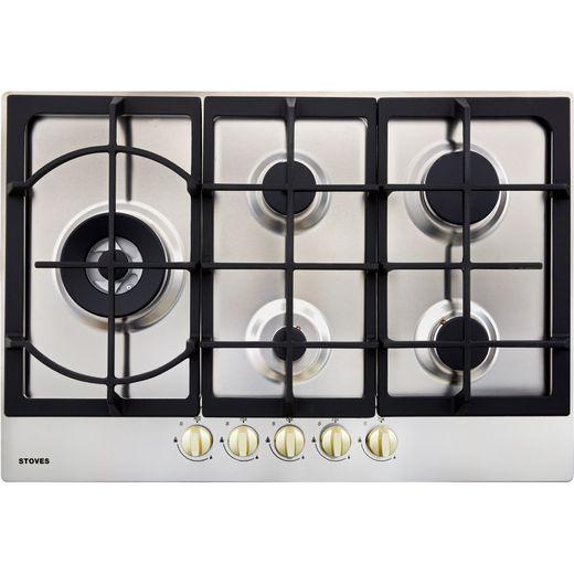 Stoves GHU75C 75cm Gas Hob - Stainless Steel