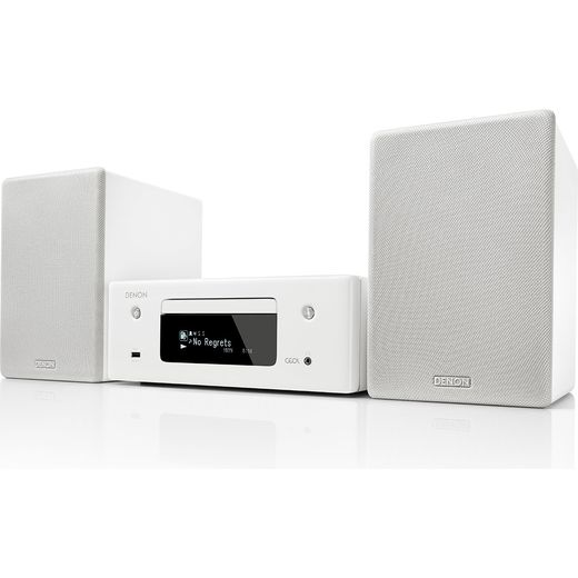 Denon N-10WTE2GB 130 Watt Hi-Fi System with Bluetooth - White