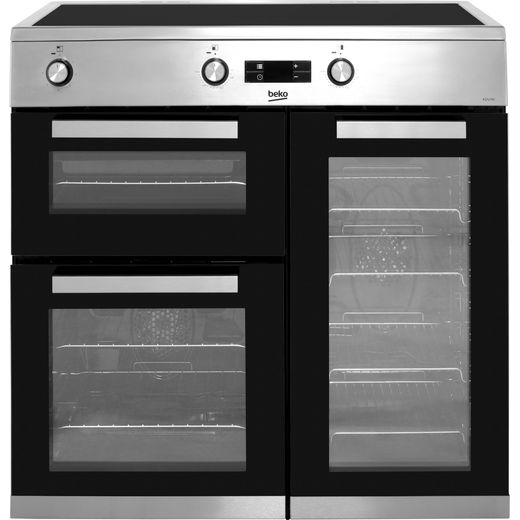 Beko KDVI90X 90cm Electric Range Cooker with Induction Hob - Stainless Steel - A/A Rated