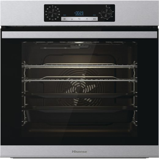 Hisense BSA65222AXUK Built In Electric Single Oven with added Steam Function - Stainless Steel - A Rated