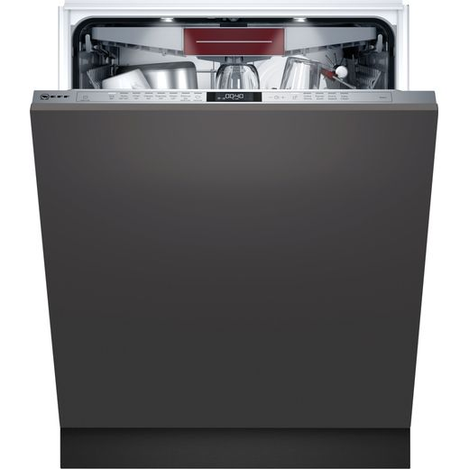 NEFF N70 S187ECX23G Wifi Connected Fully Integrated Standard Dishwasher - Stainless Steel Control Panel - D Rated