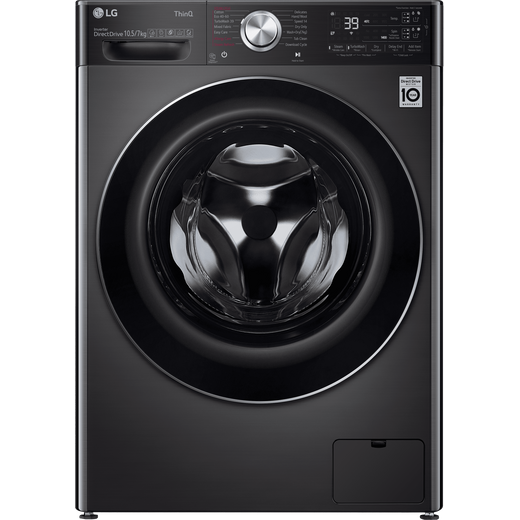 LG V11 FWV1117BTSA Wifi Connected 10.5Kg / 7Kg Washer Dryer with 1400 rpm - Black Steel - A Rated
