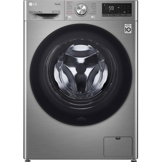 LG V5 F4V509SSE Wifi Connected 9Kg Washing Machine with 1400 rpm - Graphite - B Rated