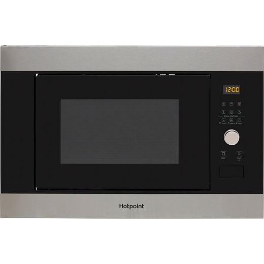 Hotpoint MF25GIXH Built In Microwave With Grill - Stainless Steel Effect
