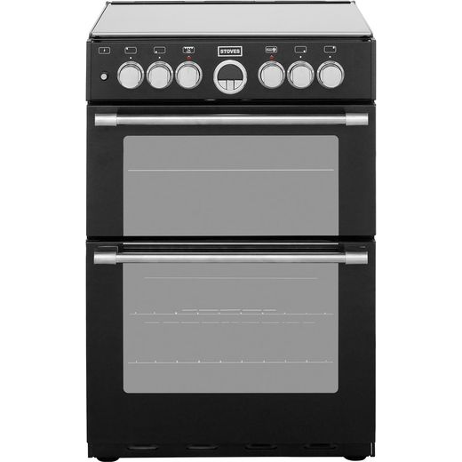Stoves Sterling STERLING600DF 60cm Dual Fuel Cooker - Black - A/A Rated