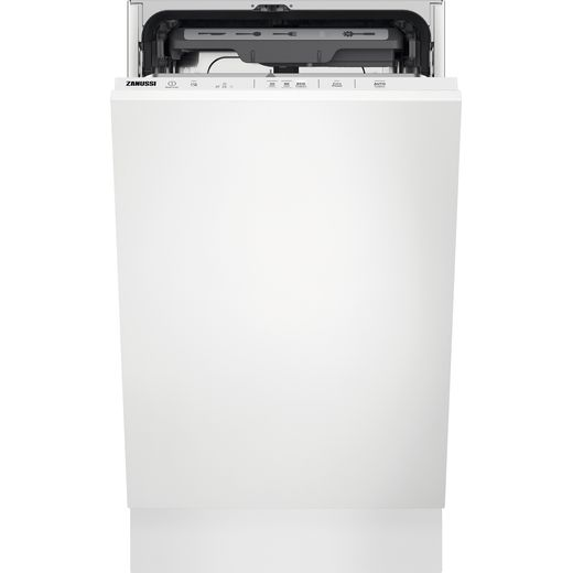 Zanussi ZSLN2321 Fully Integrated Slimline Dishwasher - White Control Panel with Fixed Door Fixing Kit - E Rated