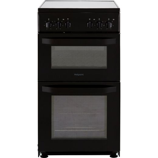 Hotpoint Cloe HD5V92KCB 50cm Electric Cooker with Ceramic Hob - Black - A Rated