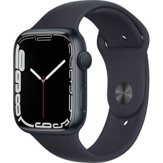 Apple Watch Series 7, 45mm, GPS [2021] - Midnight Aluminium Case with Midnight Sport Band