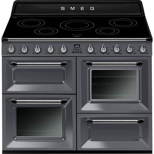 Smeg Victoria TR4110IGR 110cm Electric Range Cooker with Induction Hob - Slate - A/A Rated