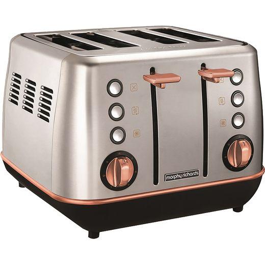 Morphy Richards Evoke Special Edition 240116 4 Slice Toaster - Brushed / Rose Gold