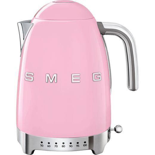 Smeg 50's Retro KLF04PKUK Kettle with Temperature Selector - Pink