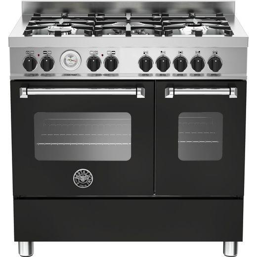 Bertazzoni Master Series MAS90-5-MFE-D-NEE 90cm Dual Fuel Range Cooker - Matte Black - A+/A Rated