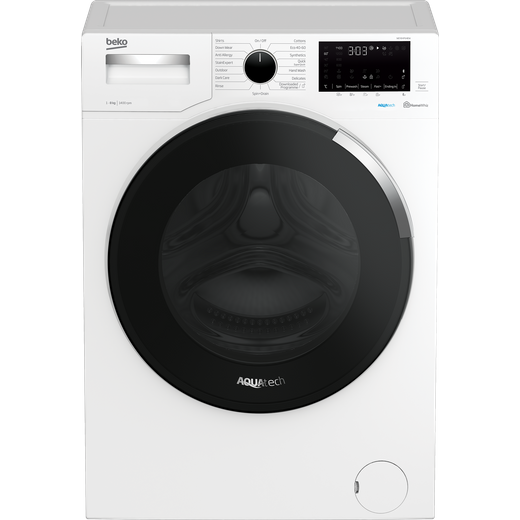 Beko WEY84P64EW 8Kg Washing Machine with 1400 rpm - White - A Rated