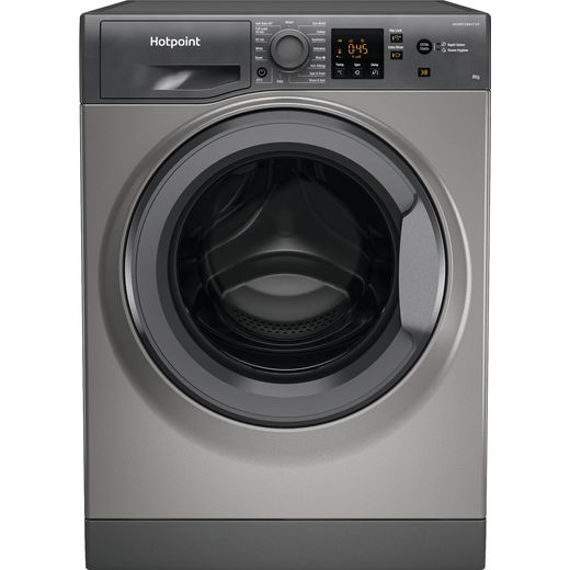 Hotpoint NSWM843CGGUKN 8Kg Washing Machine with 1400 rpm - Graphite - D Rated