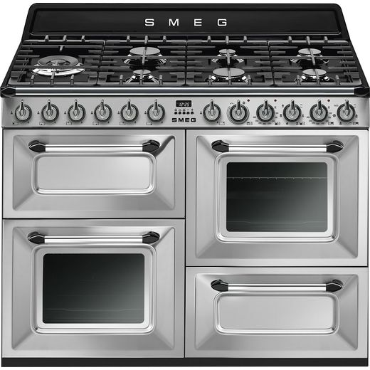 Smeg Victoria TR4110X-1 110cm Dual Fuel Range Cooker - Stainless Steel - A/A Rated
