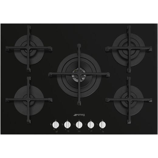Smeg Piano Design PV275N 72cm Gas Hob - Black