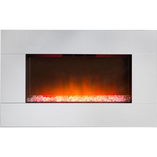 Dimplex Diamantique DIAM14E Pebble Bed Wall Mounted Fire With Remote Control - Mirror Glass