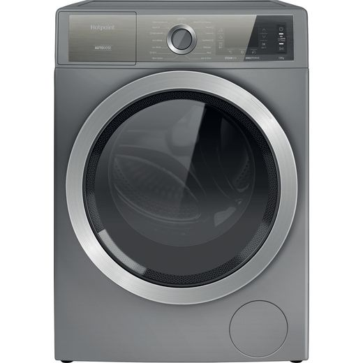 Hotpoint GentlePower H8W046SBUK 10Kg Washing Machine with 1400 rpm - Silver - A Rated