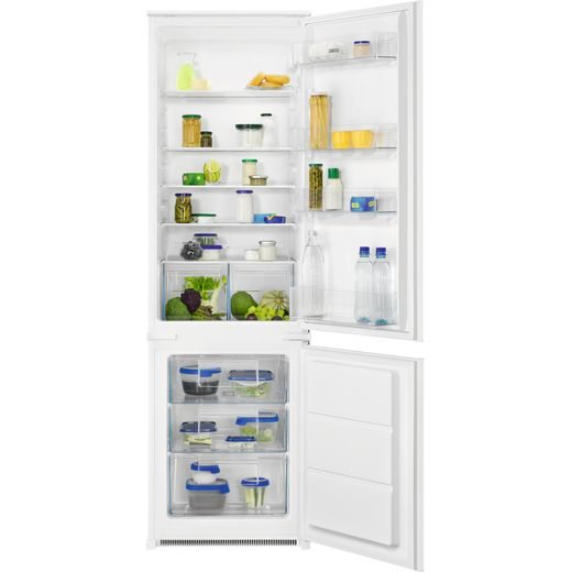 Zanussi ZNLN18FS1 Integrated 70/30 Fridge Freezer with Sliding Door Fixing Kit - White - F Rated