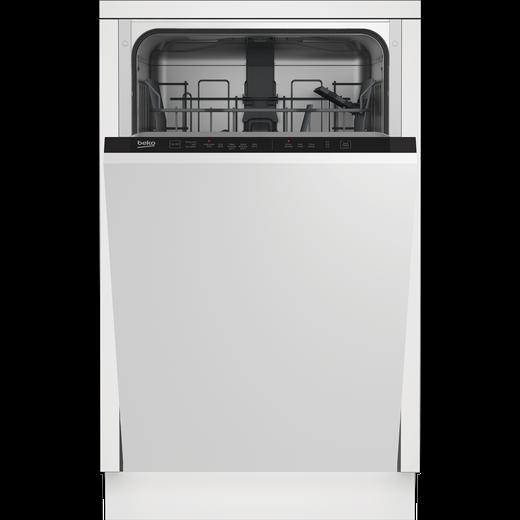 Beko DIS15020 Built In Slimline Dishwasher - Silver