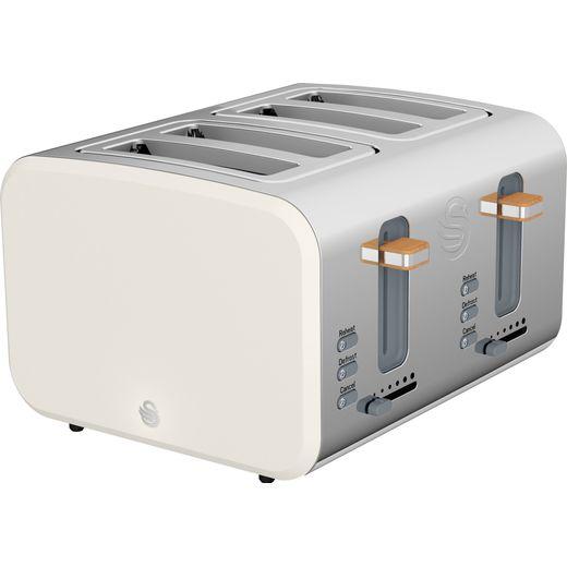 Swan Nordic ST14620WHTN 4 Slice Toaster - White