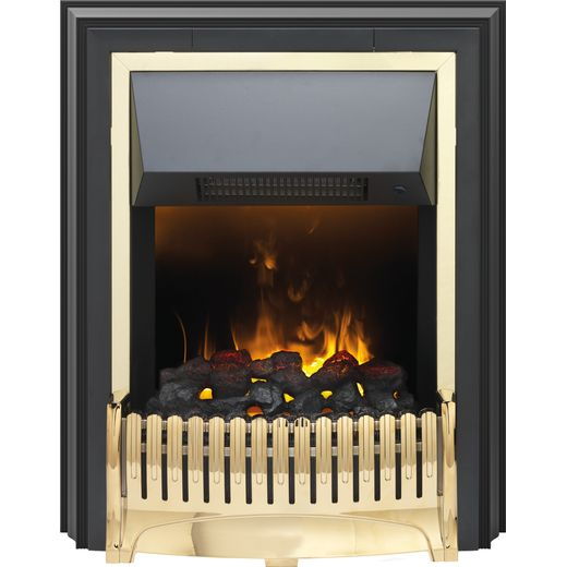 Dimplex Ropley RPL20 Coal Bed Freestanding Fire With Remote Control - Brass