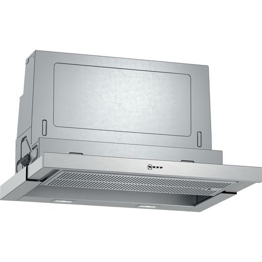NEFF N70 D46ML54N1B 60 cm Telescopic Cooker Hood - Stainless Steel - A Rated