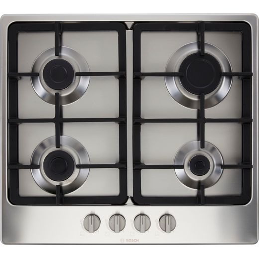 Bosch Serie 4 PGP6B5B90 Built In Gas Hob - Stainless Steel