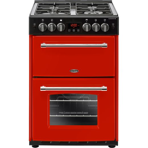 Belling Farmhouse60G 60cm Gas Cooker with Full Width Electric Grill - Hot Jalapeno - A+/A Rated