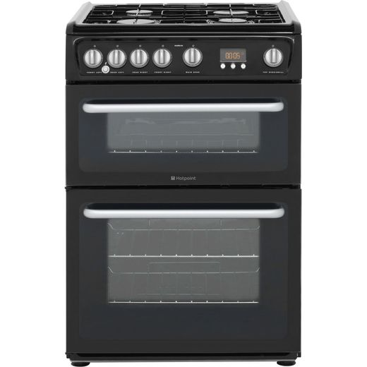 Hotpoint Newstyle HARG60K Gas Cooker - Black