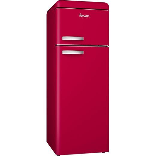 Swan Retro SR11010RN 80/20 Fridge Freezer - Red - F Rated