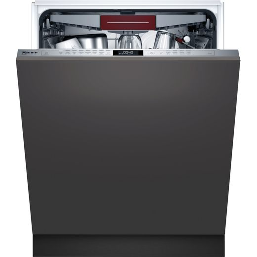 NEFF N70 S187ZCX43G Wifi Connected Fully Integrated Standard Dishwasher - Stainless Steel Control Panel - C Rated