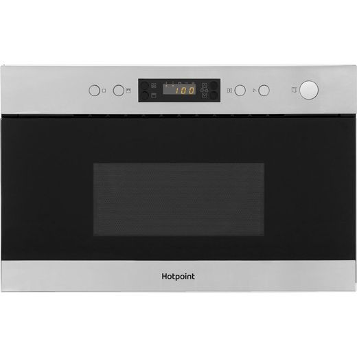 Hotpoint MN314IXH Built In Microwave With Grill - Stainless Steel