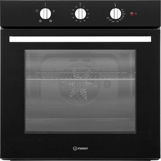 Indesit Aria IFW6330BL Built In Electric Single Oven - Black