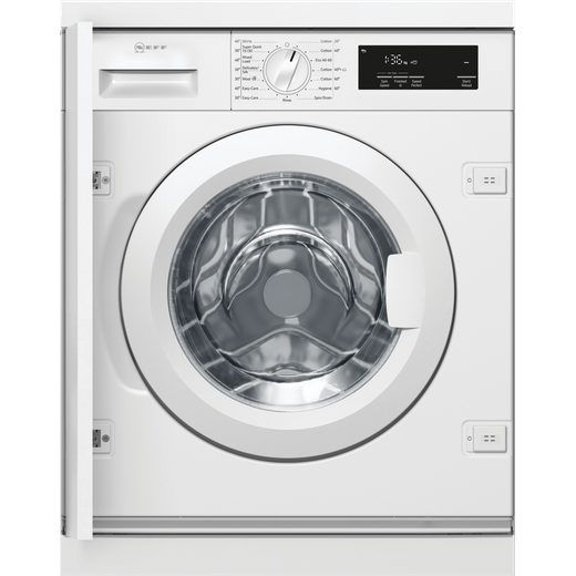 NEFF W543BX1GB Integrated 8Kg Washing Machine with 1400 rpm - White - C Rated
