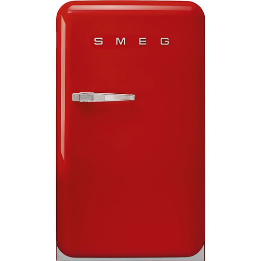 Smeg Right Hand Hinge FAB10RRD5 Fridge with Ice Box - Red - E Rated