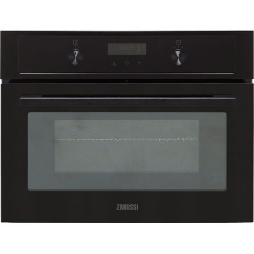 Zanussi ZVENM7K1 Built In Compact Electric Single Oven with Microwave Function - Black