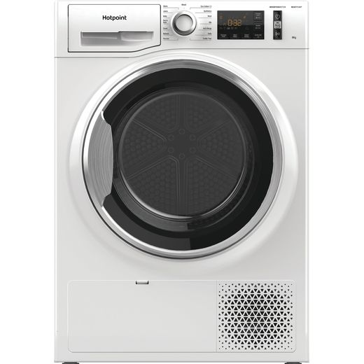 Hotpoint ActiveCare NTM118X3XBUK 8Kg Heat Pump Tumble Dryer - White - A+++ Rated