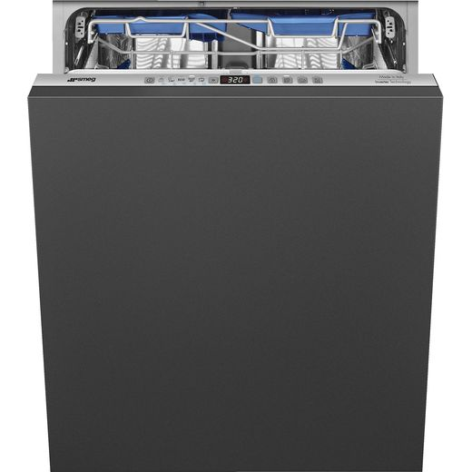 Smeg DI322BQLH Fully Integrated Standard Dishwasher - Silver Control Panel with Fixed Door Fixing Kit - B Rated