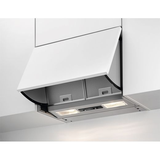 AEG DEB2631S 60 cm Integrated Cooker Hood - Silver Grey - D Rated