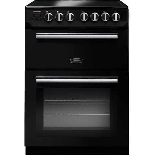 Rangemaster Professional Plus 60 PROP60ECBL/C Electric Cooker - Black / Chrome - Needs 10.6KW Electrical Connection