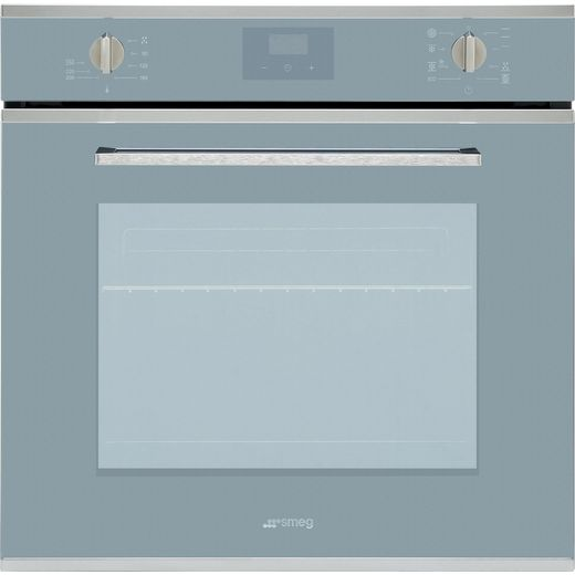 Smeg Cucina SF6400TVS Built In Electric Single Oven - Silver Glass