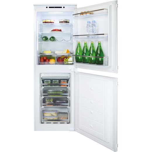 CDA FW925 Integrated 50/50 Frost Free Fridge Freezer with Sliding Door Fixing Kit - White - F Rated