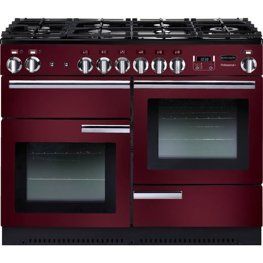 Rangemaster Professional Plus PROP110DFFCY/C 110cm Dual Fuel Range Cooker - Cranberry / Chrome - A/A Rated