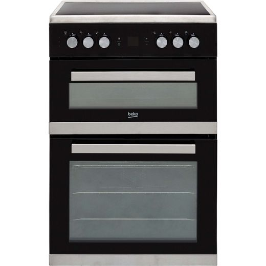 Beko JDC683X Electric Cooker with Ceramic Hob - Stainless Steel - A/A Rated