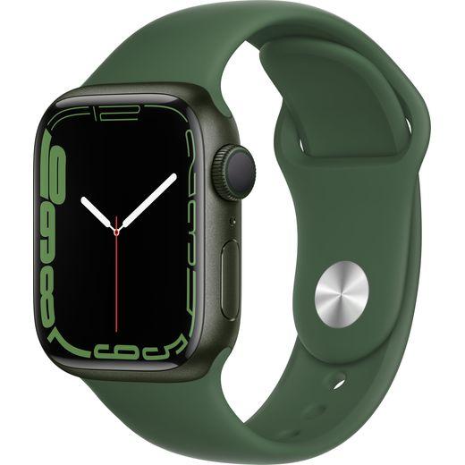 Apple Watch Series 7, 41mm, GPS [2021] - Green Aluminium Case with Clover Sport Band