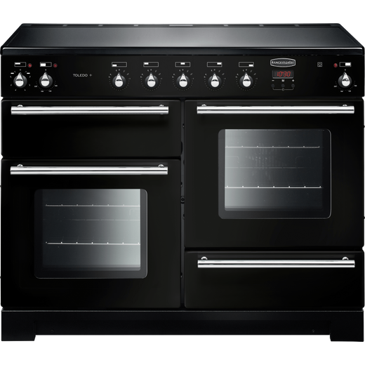 Rangemaster Toledo + TOLP110EIGB/C 110cm Electric Range Cooker with Induction Hob - Black - A/A Rated