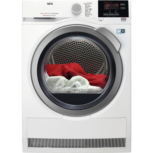 AEG AbsoluteCare Technology T8DBG942R Heat Pump Tumble Dryer - White